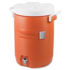 "Rubbermaid Commercial 5-Gallon Water Cooler - 5 gal - Polyethylene - 18.8"" x 12.5"" x 12.5"" - Orange"