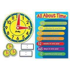 "Carson-Dellosa Judy Clock Bulletin Board Set - 24"" Height x 17"" Width x 16.25"" Diameter - Assorted - 1 Set"