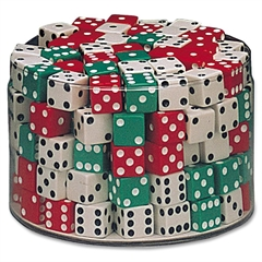 "ChenilleKraft Drum of Dice - 144 Pcs - 5/8"" Cubes - 144 Pieces"