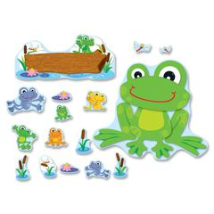 "Carson-Dellosa PreK- Grade 5 FUNky Frogs Bulletin Brd Set - (Frog) Shape - 4"" Height x 6"" Width - Assorted - 1 / Set"