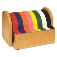 Tape Holder - Wood - Holds 8 Rolls - Holds Total 8 Tape(s) - Wood - Brown
