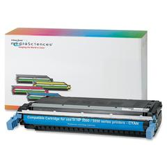 Media Sciences Toner Cartridge - Alternative for HP (645A) - Laser - 12000 Pages - Cyan - 1 Each