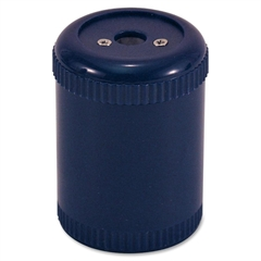 "OIC Barrel Single Pencil Sharpener - Handheld - Hole(s)2.1"" x 1.4"" x 1.4"" - Metal - Navy"