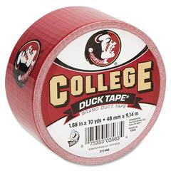 "Duck College Team Duct Tape - 1.88"" Width x 30 ft Length - Easy Tear - 18 / Carton - Yellow"