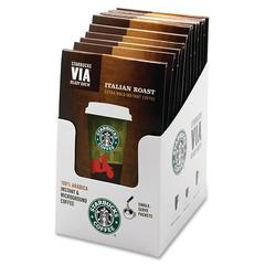 Starbucks VIA Ready Brew Italian Roast Coffee Instant - Regular - Colombian, Italian Blend - Dark/Bold - 0.1 oz Per Packet - 8 Packet - 8 / Box
