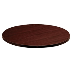 "HON Mahogany Round Laminate Table Top - 36"" Diameter - Particleboard - Mahogany"