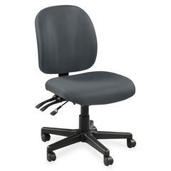 "Lorell Mid-Back Task Chair w/o Arms - Fabric Gray Seat - Fabric Gray Back - 5-star Base - Gray - 20"" Seat Width x 17"" Seat Depth - 20"" Width x 18"" Depth x 43"" Height"