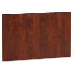 "Lorell Accent Series Cherry Laminate Modesty Panel - 19.6"" Depth x 29.5"" Height x 750 mil Thickness - MDF, Metal, Laminate - Cherry"