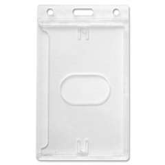 Baumgartens Rigid PC ID Badge Dispensers - Vertical - Polycarbonate - 25 / Pack - Clear