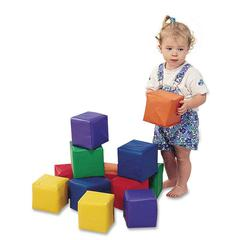 Childrens Factory Toddler Baby Blocks - Skill Learning: Matching, Color - 12 Pieces