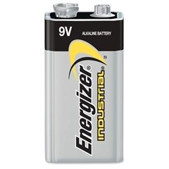 Energizer Industrial Alkaline 9V Battery - 9V - Alkaline - 9 V DC - 72 / Carton