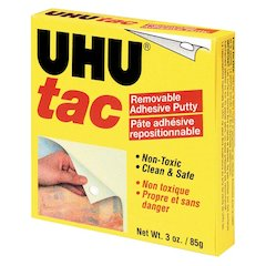 Staedtler UHU Tac Removable Adhesive Putty - Removable, Non-toxic, Pliable, Reusable - 1 Each - White