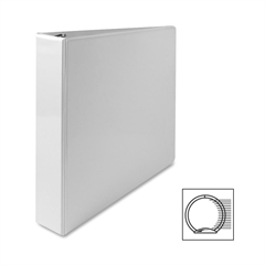 "Sparco Premium Round Ring View Binder - 1 1/2"" Binder Capacity - Letter - 8 1/2"" x 11"" Sheet Size - 3 x Round Ring Fastener(s) - 2 Internal Pocket(s) - Polypropylene - White - 1 Each"