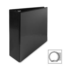 "Sparco Premium Round Ring View Binder - 3"" Binder Capacity - Letter - 8 1/2"" x 11"" Sheet Size - 3 x Round Ring Fastener(s) - 2 Internal Pocket(s) - Polypropylene - Black - 1 Each"