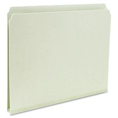 "Pressboard Folders - 1"" Folder Capacity - Letter - 8 1/2"" x 11"" Sheet Size - 1"" Expansion - 25 pt. Folder Thickness - Pressboard - Gray, Green - Recycled - 25 / Box"