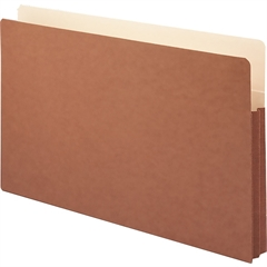 "Smead Redrope File Pockets with Tyvek®-Lined Gusset - 9 1/2"" x 14 3/4"" Sheet Size - 1 3/4"" Expansion - Top Tab Location - 12.5 pt. Folder Thickness - Kraft, Redrope - Recycled - 25 / Box"
