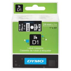"Dymo Polyester-coated D1 Tape - 0.94"" Length - Direct Thermal - White - 1 Each"