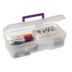 "Akro-Mils 12"" Supply Box - External Dimensions: 6"" Width x 12"" Depth x 4"" Height - Latching Closure - Plastic - Clear - 1 Each"