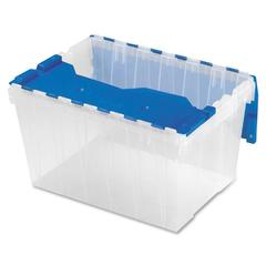 "Akro-Mils KeepBox Container with Attached Lid - External Dimensions: 21.5"" Length x 15"" Width x 12.5"" Height - 12 gal - Hinged Closure - Clear - For Apparel - 1 / Each"