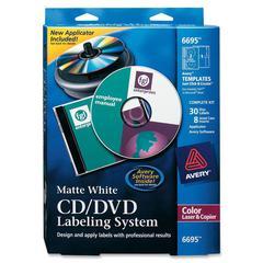 Avery Matte White CD/DVD Design Kit - Clear - 1 / Kit