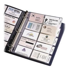 """Tabbed Business Card Page - 100 Capacity - 2"""" Width x 3.50"""" Length - 5 Tab(s)"""