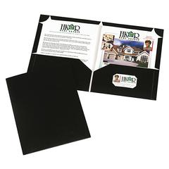 "Corner Lock Two-Pocket Folder - Letter - 8 1/2"" x 11"" Sheet Size - 2 Internal Pocket(s) - Polypropylene - Black - 10 / Pack"