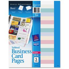 Avery Business Card Pages - 100 Business Card - Clear
