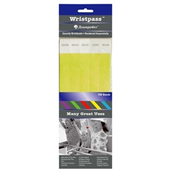"Baumgartens Wristpass Dupont Tyvek Security Wrist Band - 10"" Height x 0.8"" Width Length - Yellow - Tyvek"