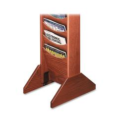 "Buddy Wooden Single Base - 14"" Width x 0.8"" Depth x 5.8"" Height - Wood - Medium Oak"