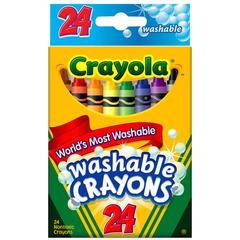 Crayola Washable Crayons - Assorted - 24 / Box