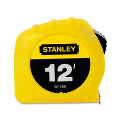 "Stanley 12' Tape Measure - 12 ft Length 0.5"" Width - 1/16 Graduations - Imperial Measuring System - Plastic - 1 Each - Yellow"