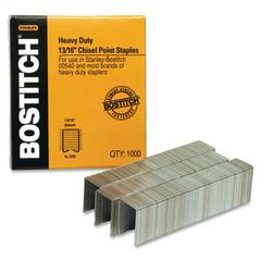 "Bostitch Heavy-duty Premium Staples - Heavy Duty - 13/16"" Leg - 1/2"" Crown - Holds 165 Sheet(s) - Chisel Point - Silver - High Carbon Steel - 1000 / Box"
