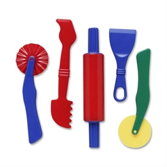ChenilleKraft Clay Dough Tool Set - 5 Piece(s) - 5 / Set - Assorted