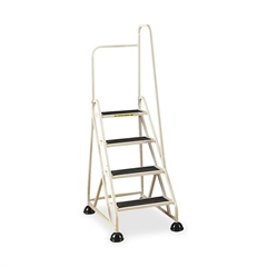 "Cramer Stop Step 1041R Step Ladder - 4 Step - 300 lb Load Capacity - 24.6"" x 33.5"" x 66"" - Aluminum - Beige"