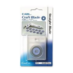 "CARL B-01 Straight Replacement Blade - 1.10"" Length - Straight Style - Steel - 1 Each - Silver"