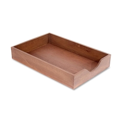 Carver Walnut Finish Solid Wood Desk Trays - Desktop - Walnut - Oak - 1Each