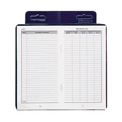 "Dome Publishing Deluxe Auto Mileage Log Book - 6.25"" x 3.25"" Sheet Size - White Sheet(s) - Blue Cover - Recycled - 1 Each"