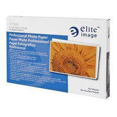 "Elite Image Professional Photo Paper - 4"" x 6"" - Glossy - 95 Brightness - 50 / Pack - White"