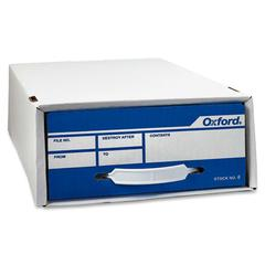 "Pendaflex Standard Storage File Boxes - External Dimensions: 24"" Width x 11"" Depth x 5"" Height - Stackable - White - For Check, Voucher Slip - 1 Each"