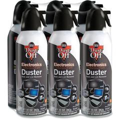 Falcon Dust-Off Compressed Gas Duster - Ozone-safe, Moisture-free - 6 / Pack - Black