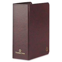 "Franklin Covey Classic Time Management Storage Binder - Statement - 5 1/2"" x 8 1/2"" Sheet Size - 2"" Expansion - Burgundy - 1 Each"