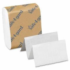 "Georgia-Pacific Safe-T-Gard Interfolded Tissue - 4"" x 10"" - White - 200 Sheets Per Pack - 40 / Carton"