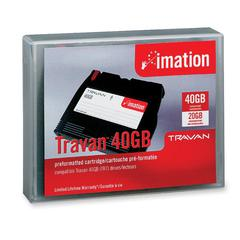 Travan 40 Tape Cartridge - Travan 40 - 20 GB (Native) / 40 GB (Compressed) - 750 ft Tape Length - 1 Pack
