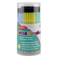 CLI Artist Brushes - 144 Brush(es) - Assorted Plastic