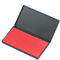 "Stamp Pad - 1 Each - 2.8"" Width x 4.3"" Length - Foam Pad - Red Ink"
