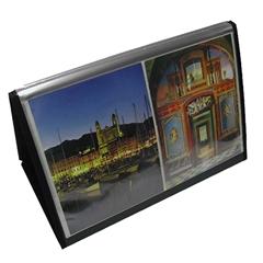"Lion Flip-N-Tell Display Easel Book - Ledger - 11"" x 17"" Sheet Size - 40 Sheet Capacity - 20 Pocket(s) - Polypropylene - Black - Recycled - 1 Each"