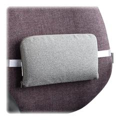 "Master Lumbar Support Cushion - Washable - Hook Mount - 12.5"" x 2.5"" x 7.5"" - Gray"