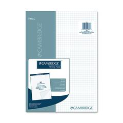 "Mead Cambridge Stiff-Back Quad Planning Pad - 80 Sheets - Printed - Letter 8.50"" x 11"" - Assorted Paper - Navy Cover - 80 / Pad"