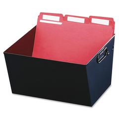 """MMF Posting Tubs - External Dimensions: 12.1"""" Width x 11.4"""" Depth x 7""""Height - Media Size Supported: Letter - Heavy Duty - Steel - Black - For File - Recycled - 1 Each"""