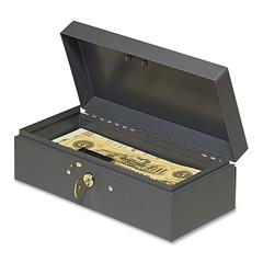 """MMF Bond Box - 5 Bill - Steel - Charcoal Gray - 2.9"""" Height x 10.3"""" Width x 4.4"""" Depth"""